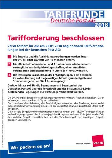 Tarifforderung DP AG 2018